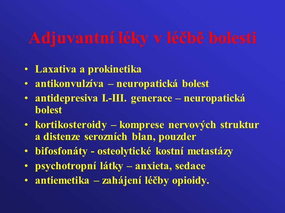 Adjuvantní léky v léčbě bolesti