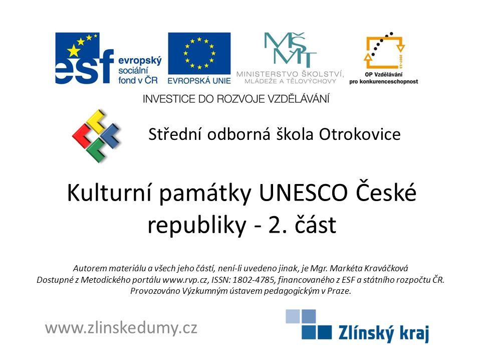 Kulturní památky UNESCO České republiky - 2. část