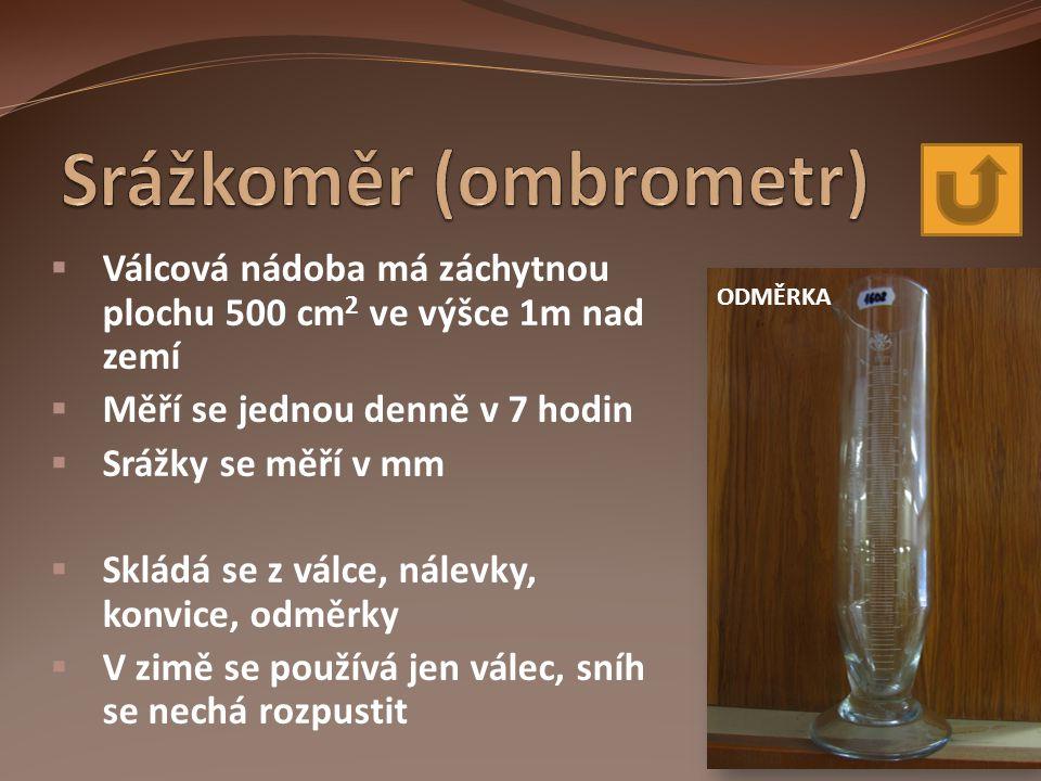 Srážkoměr (ombrometr)