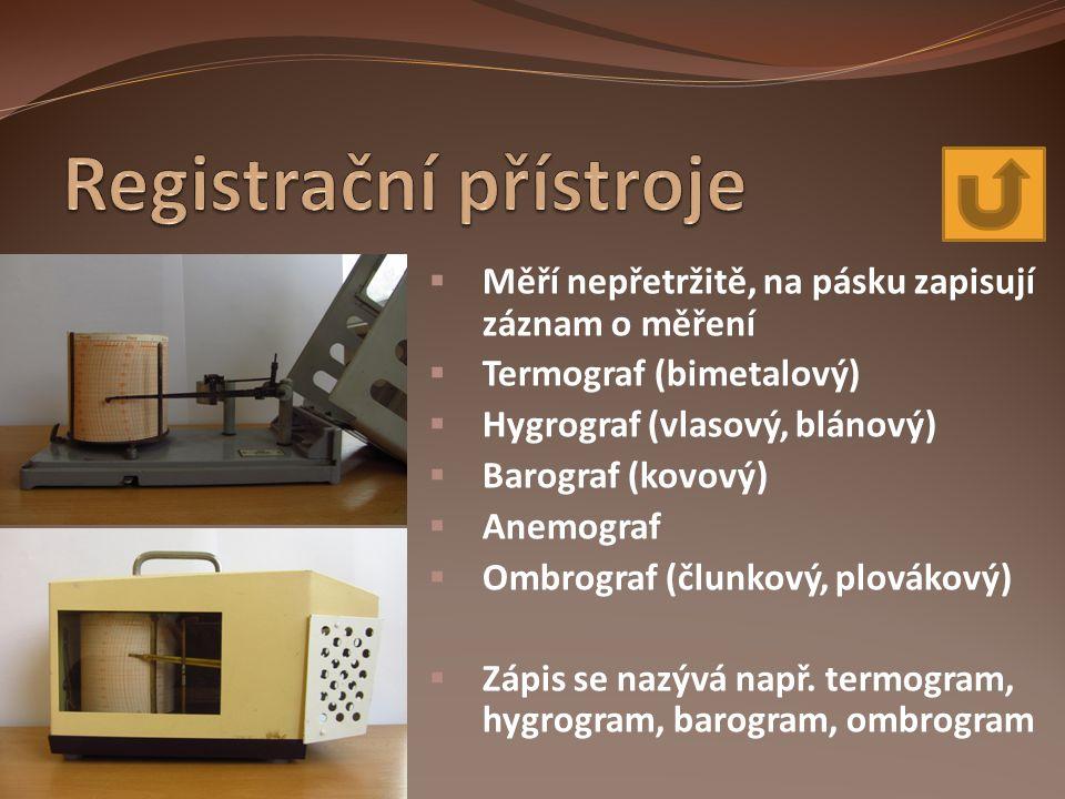 Registrační přístroje