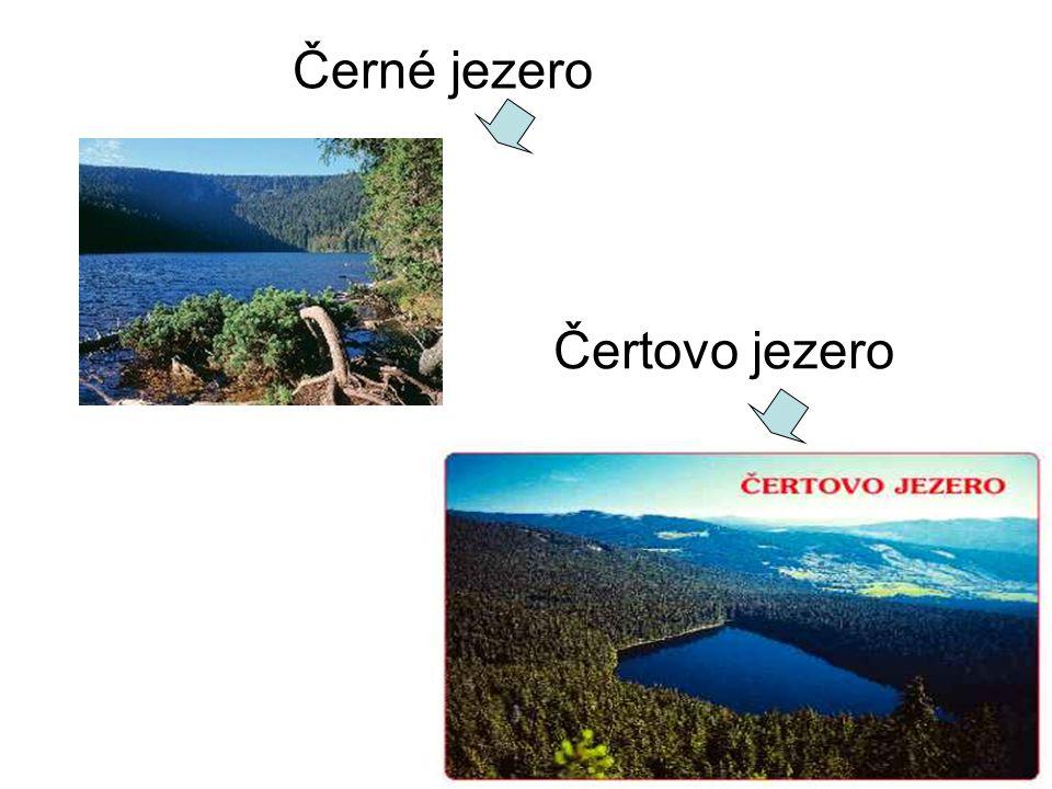 Černé jezero Čertovo jezero