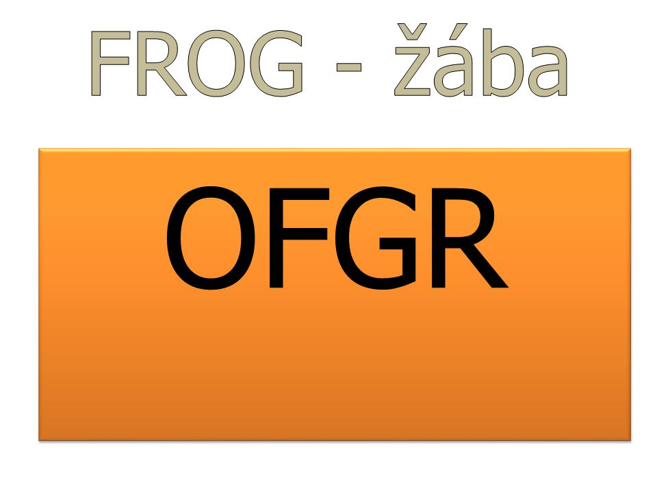 FROG - žába OFGR