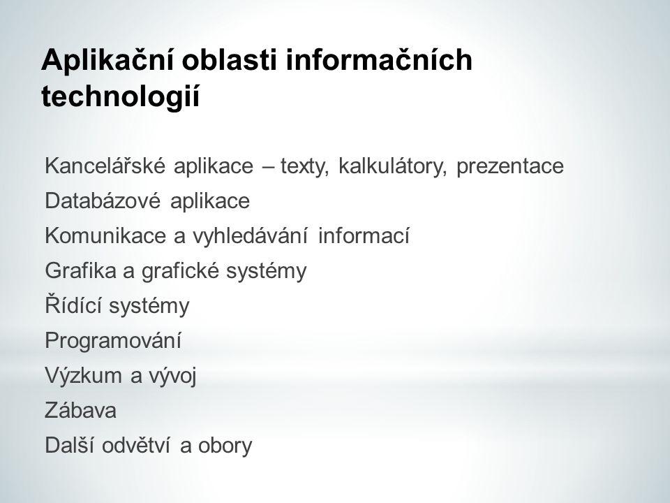 Aplikační oblasti informačních technologií