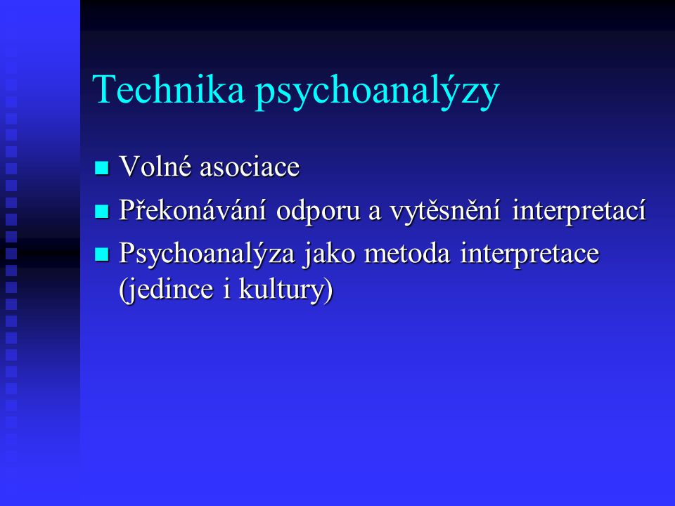 Technika psychoanalýzy