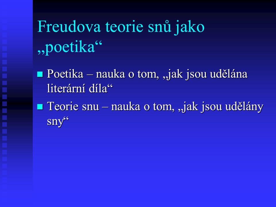"""Freudova teorie snů jako """"poetika"""