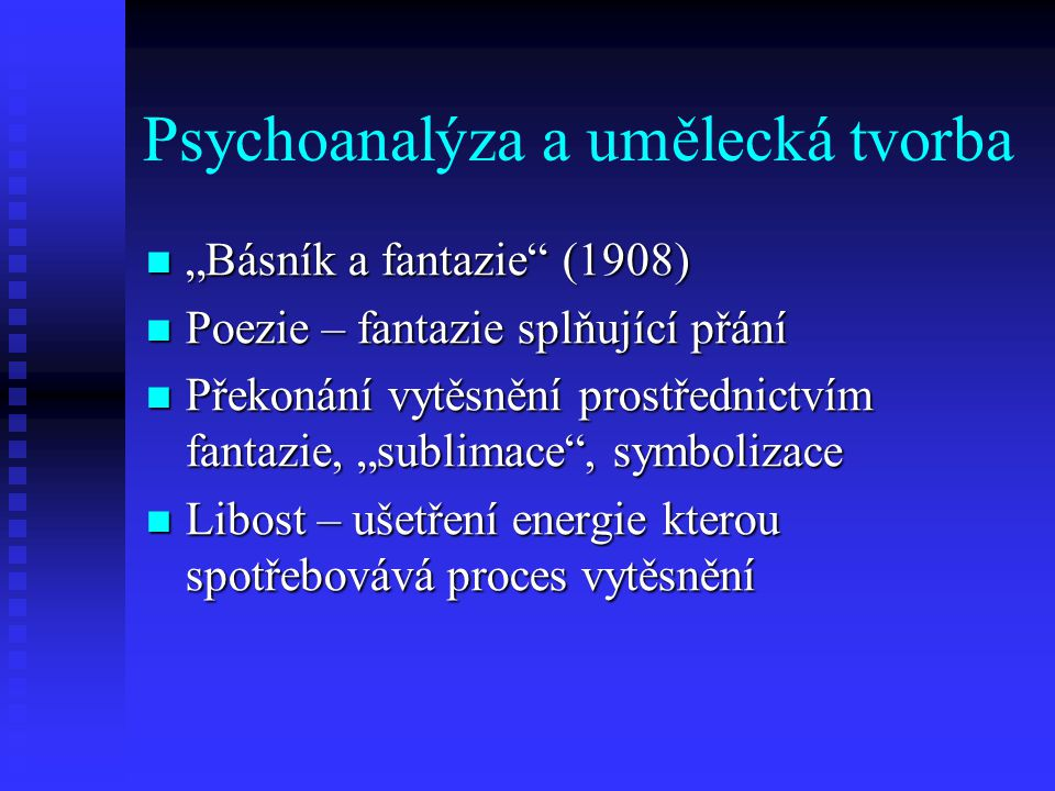 Psychoanalýza a umělecká tvorba