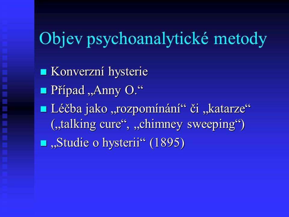 Objev psychoanalytické metody