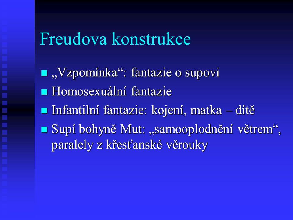"""Freudova konstrukce """"Vzpomínka : fantazie o supovi"""