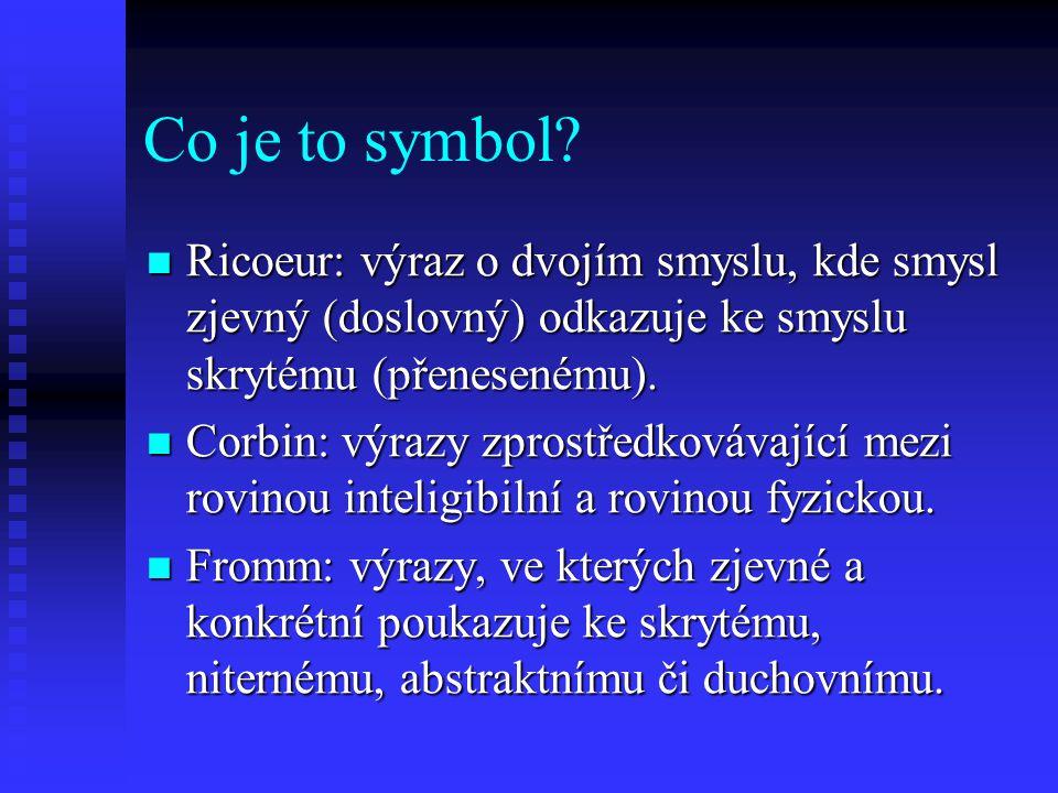 Co je to symbol Ricoeur: výraz o dvojím smyslu, kde smysl zjevný (doslovný) odkazuje ke smyslu skrytému (přenesenému).