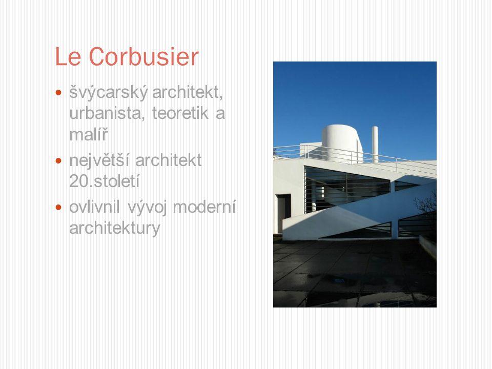 Le Corbusier švýcarský architekt, urbanista, teoretik a malíř