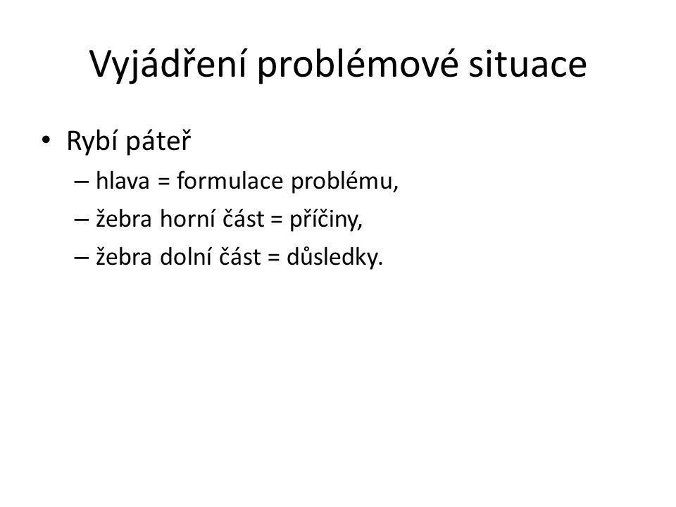 Vyjádření problémové situace
