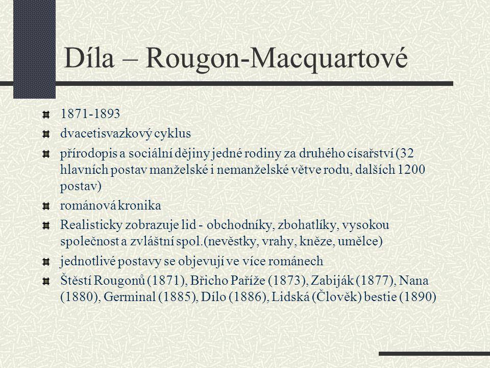 Díla – Rougon-Macquartové