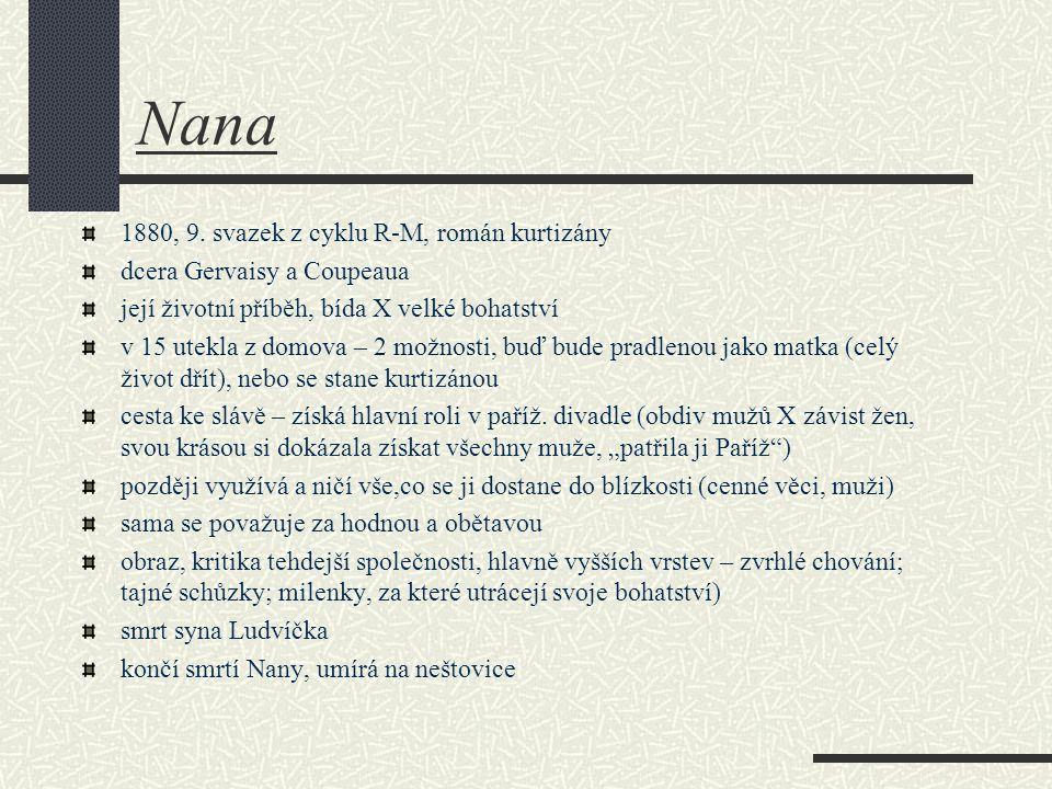 Nana 1880, 9. svazek z cyklu R-M, román kurtizány