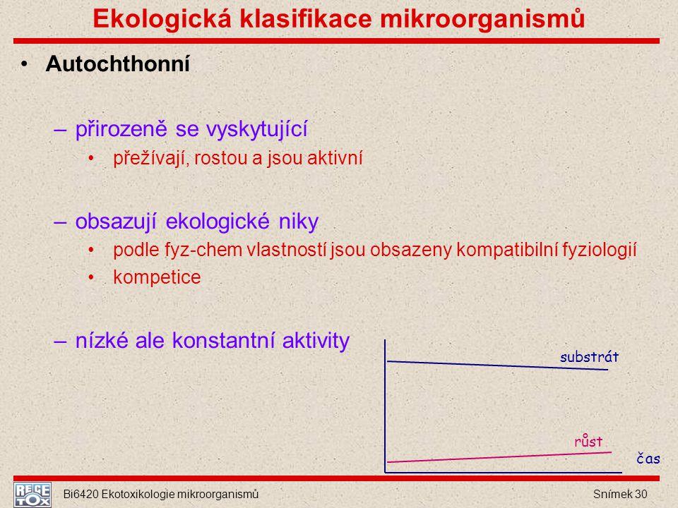Ekologická klasifikace mikroorganismů
