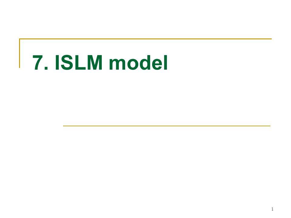 7. ISLM model