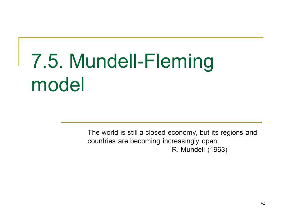 7.5. Mundell-Fleming model