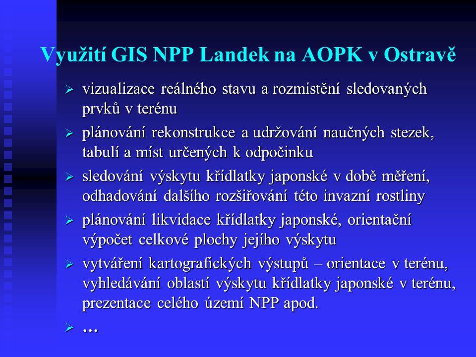 Využití GIS NPP Landek na AOPK v Ostravě