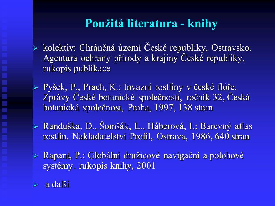 Použitá literatura - knihy