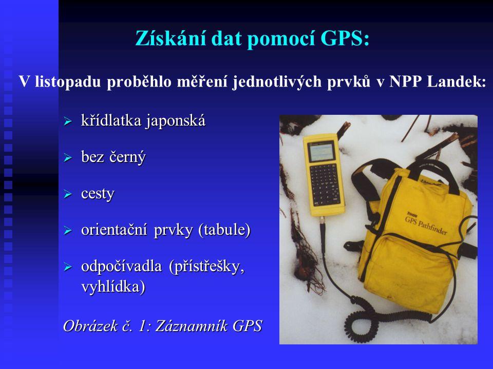 Získání dat pomocí GPS: V listopadu proběhlo měření jednotlivých prvků v NPP Landek: