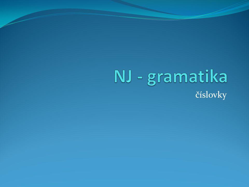 NJ - gramatika číslovky