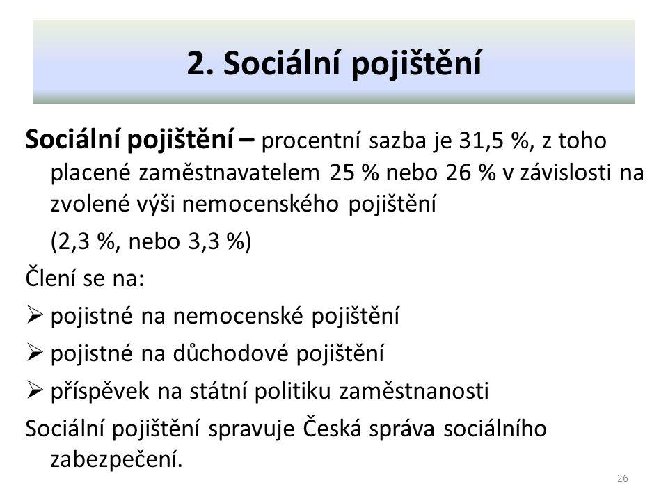 2. Sociální pojištění