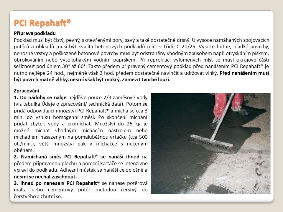 PCI Repahaft® Příprava podkladu