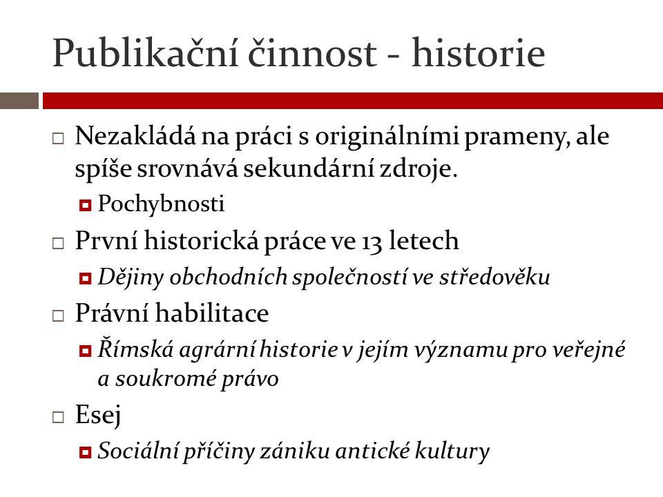 Publikační činnost - historie