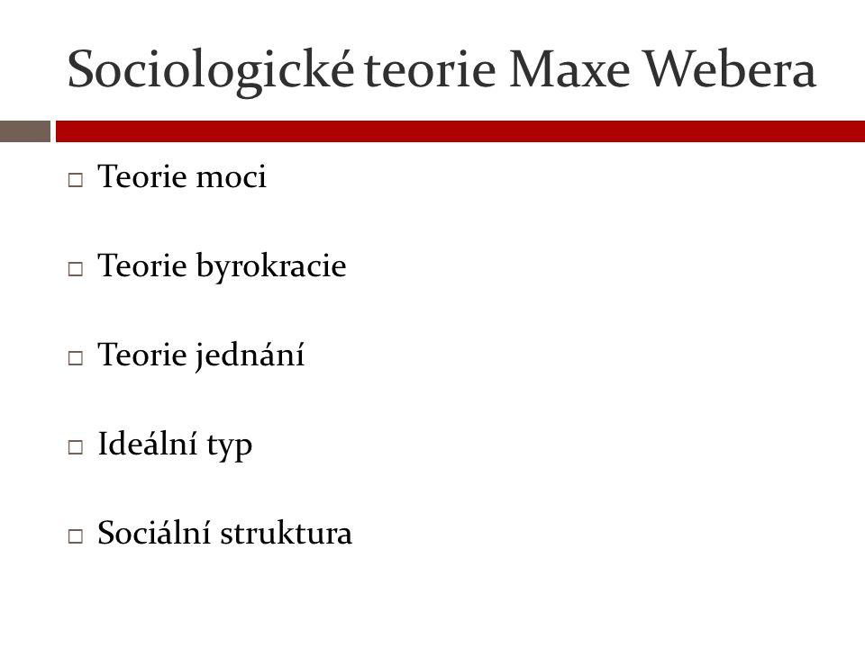 Sociologické teorie Maxe Webera
