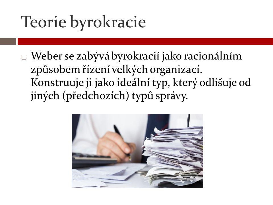 Teorie byrokracie