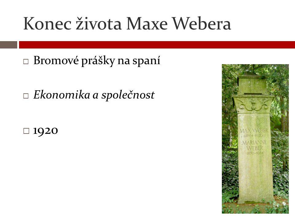Konec života Maxe Webera