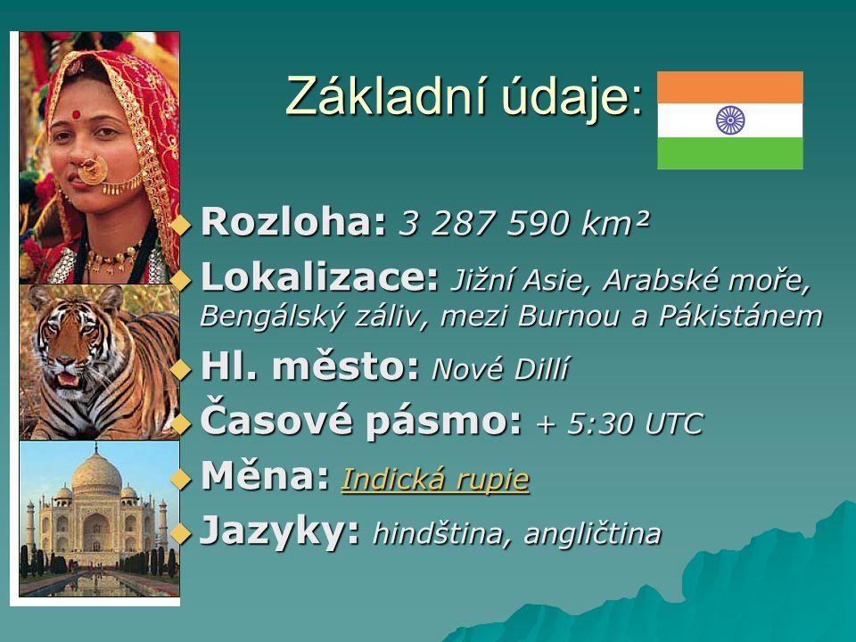 Základní údaje: Rozloha: 3 287 590 km²