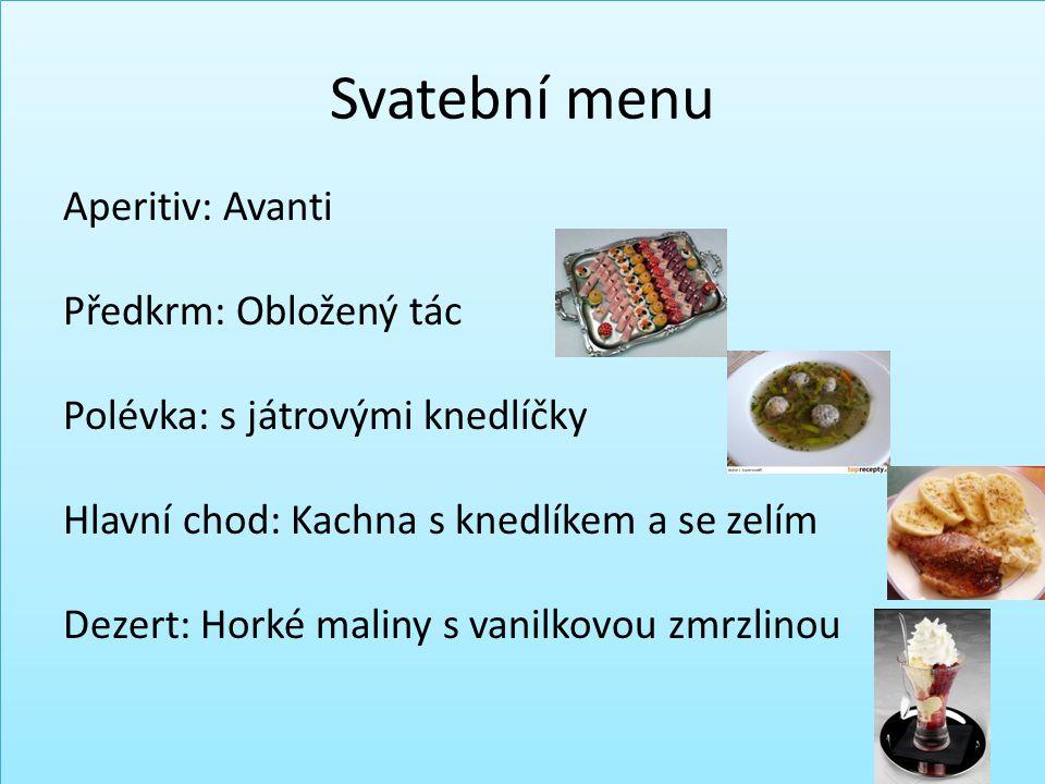 Svatební menu