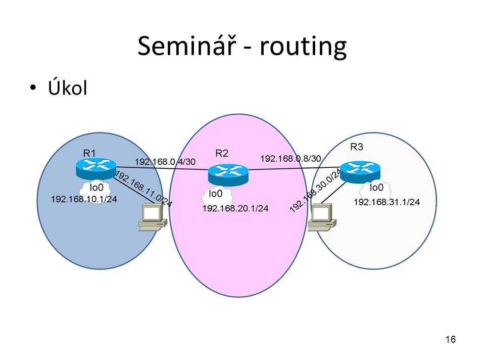 Seminář - routing Úkol 16