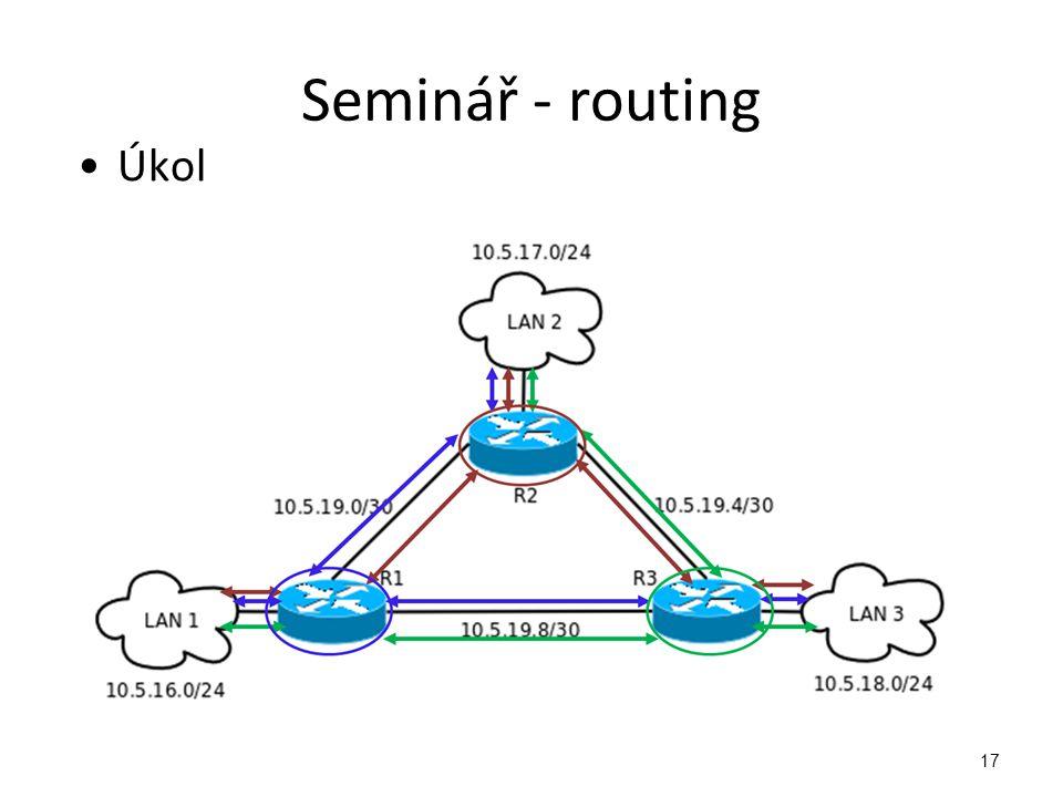 Seminář - routing Úkol