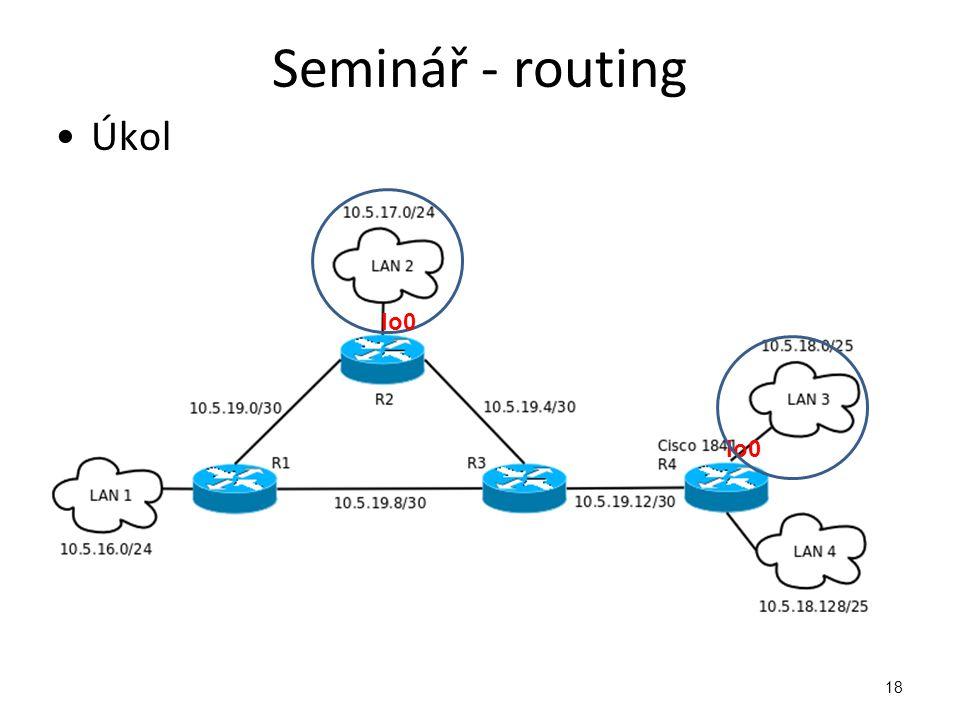 Seminář - routing Úkol lo0