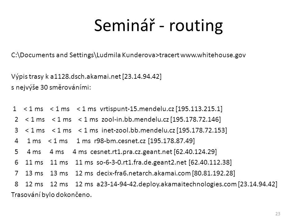 Seminář - routing