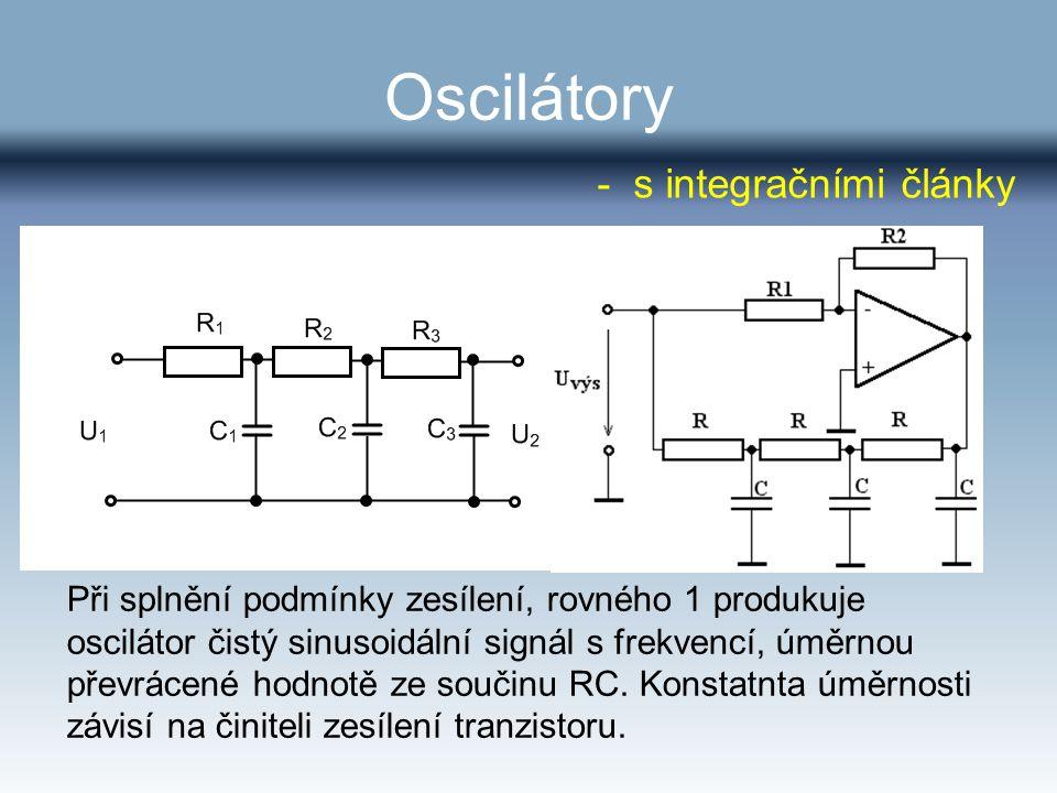Oscilátory - s integračními články