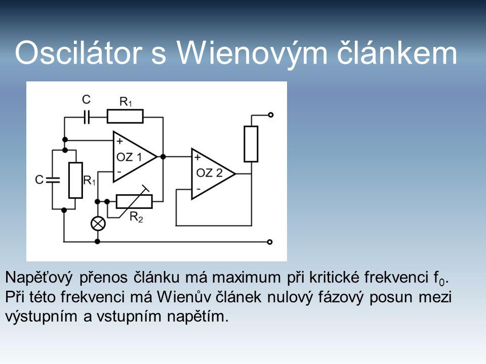 Oscilátor s Wienovým článkem