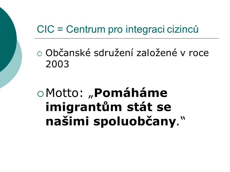 CIC = Centrum pro integraci cizinců