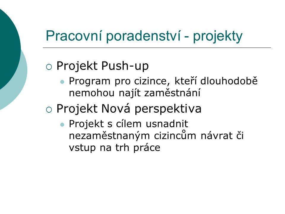 Pracovní poradenství - projekty
