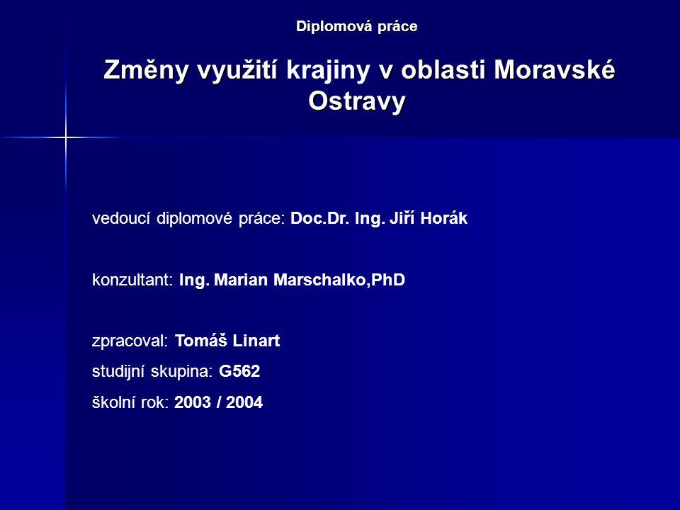 Diplomová práce Změny využití krajiny v oblasti Moravské Ostravy