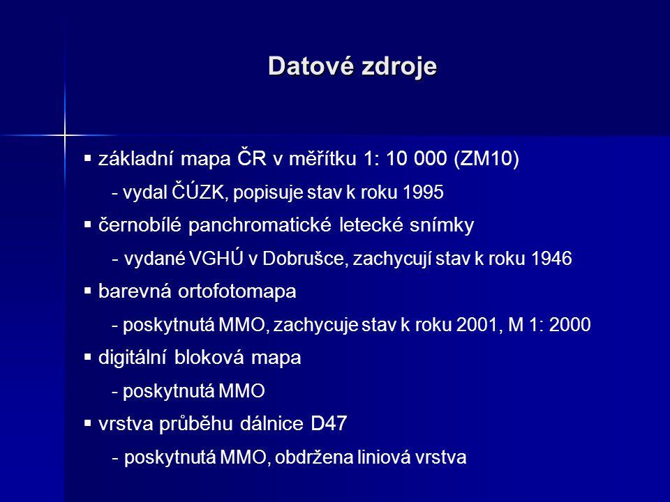 Datové zdroje základní mapa ČR v měřítku 1: 10 000 (ZM10)
