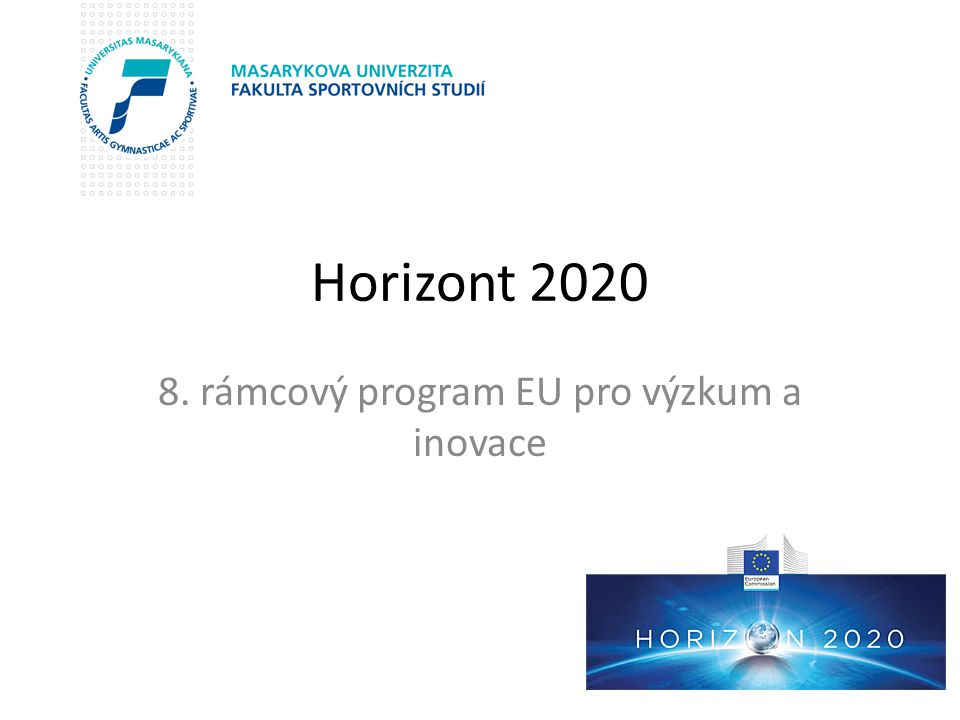 8. rámcový program EU pro výzkum a inovace