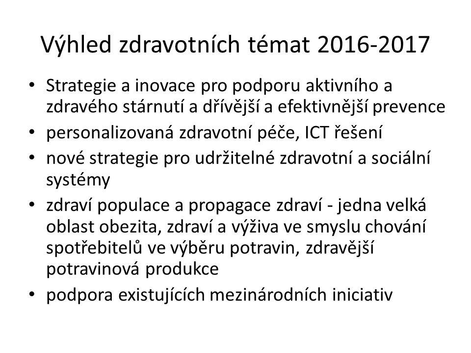 Výhled zdravotních témat 2016-2017