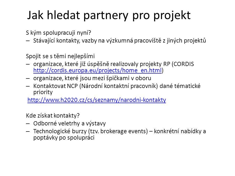 Jak hledat partnery pro projekt