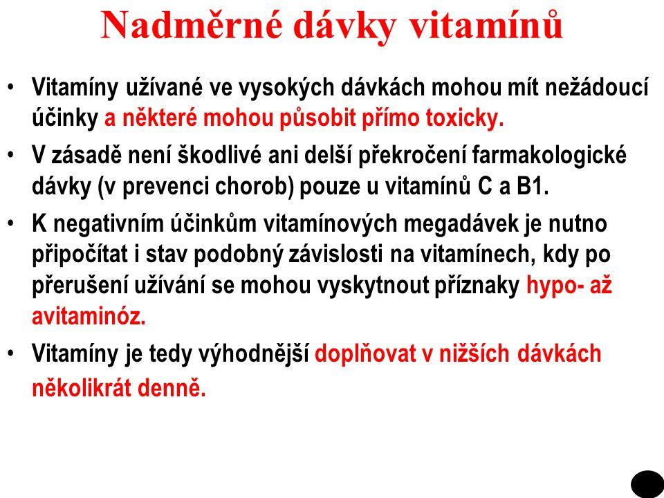 Nadměrné dávky vitamínů