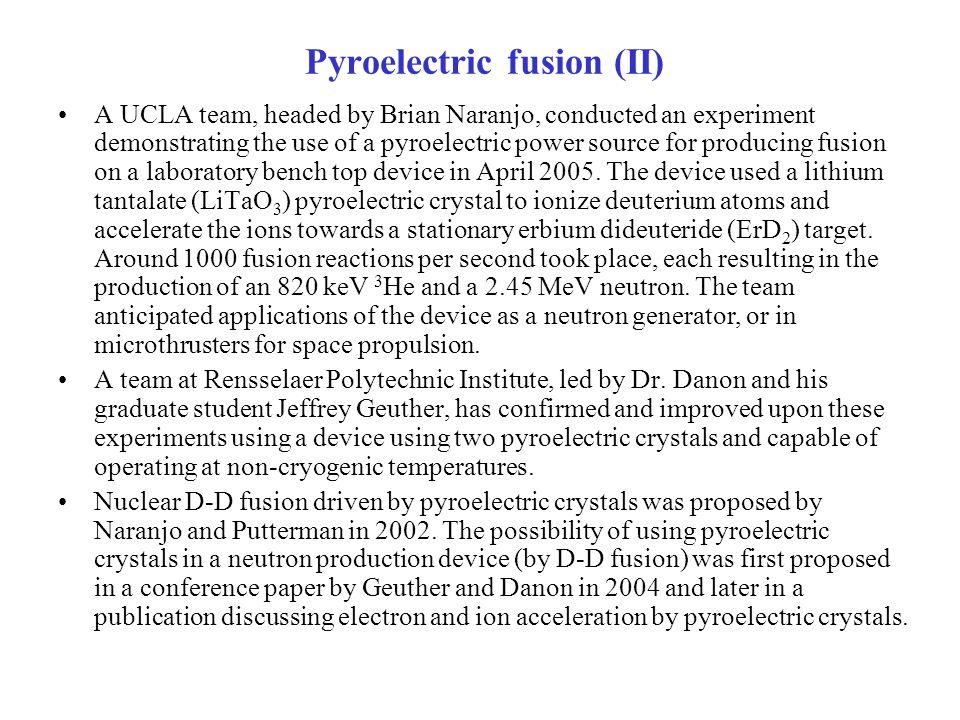 Pyroelectric fusion (II)