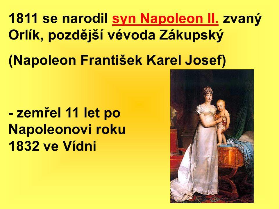 1811 se narodil syn Napoleon II. zvaný Orlík, pozdější vévoda Zákupský