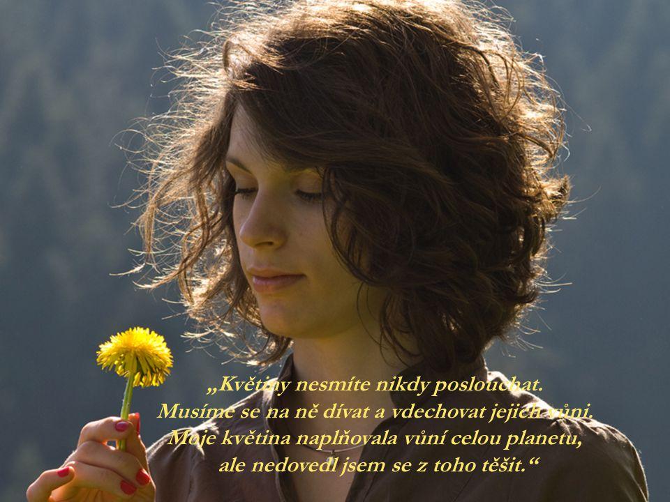 """""""Květiny nesmíte nikdy poslouchat."""