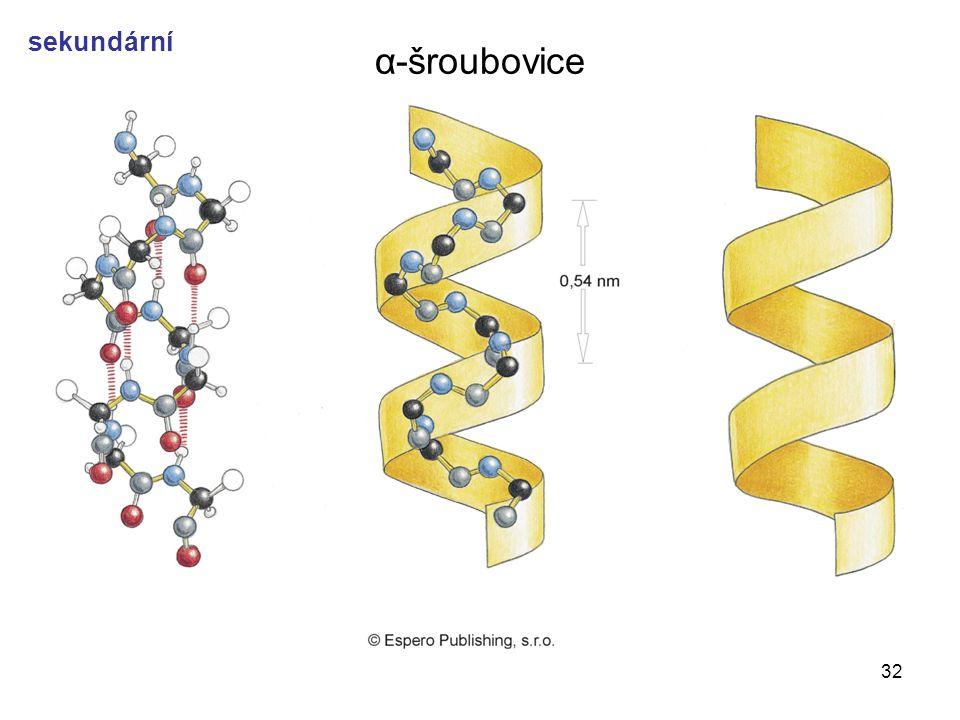 α-šroubovice sekundární